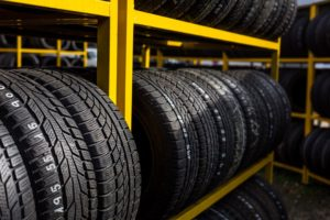 Tires in sandy